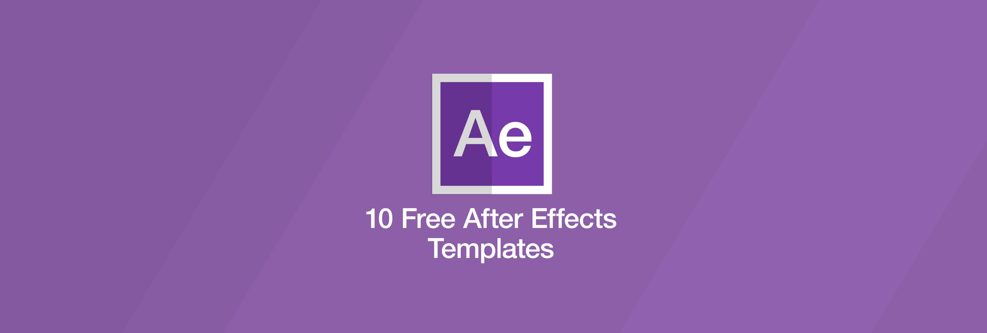 10 free after effects templates