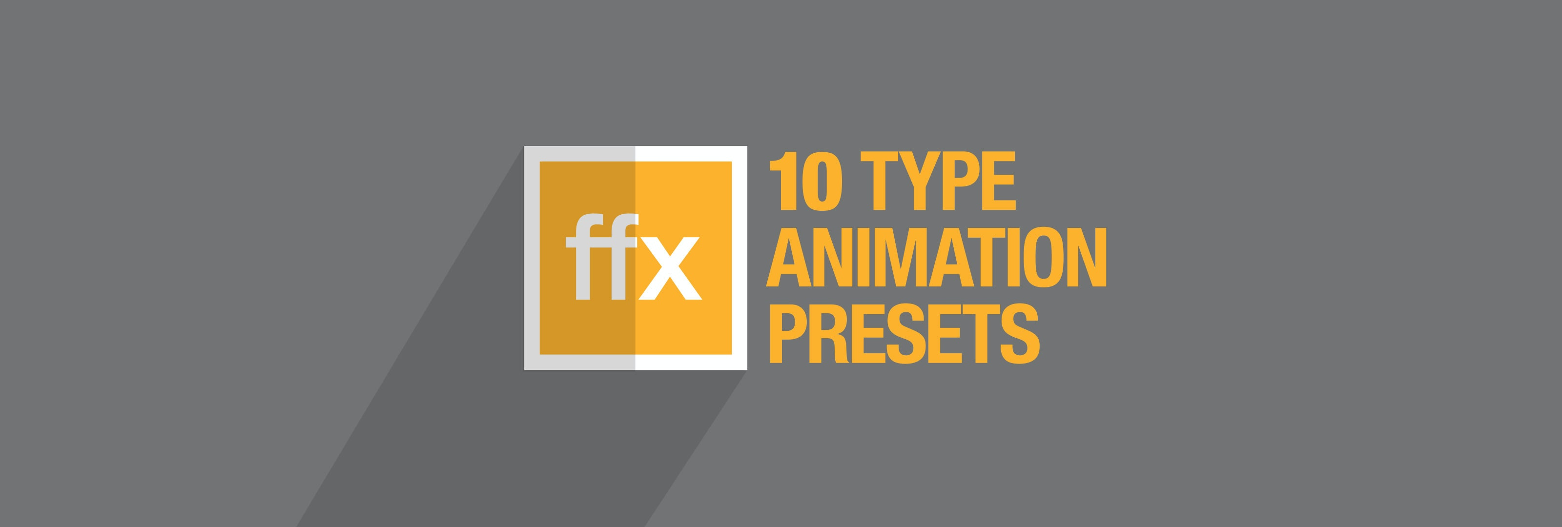10 Free After Effects Type Animation Presets Motion Array