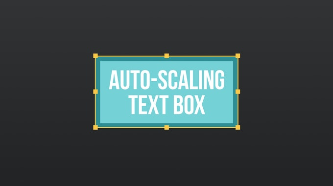 How To Create An Autoscale Text Box In After Effects