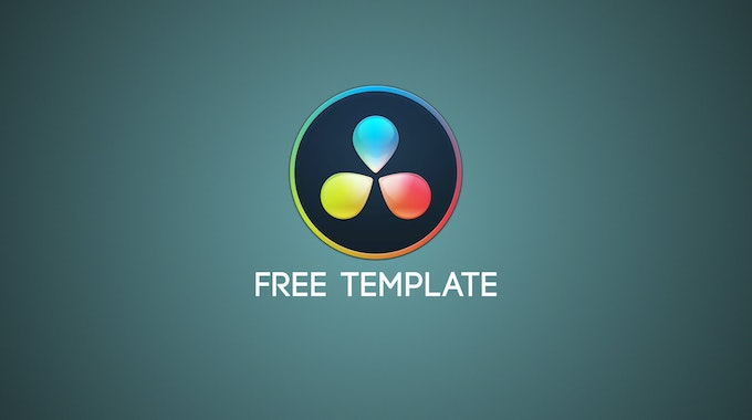 FREE DaVinci Resolve Title Template