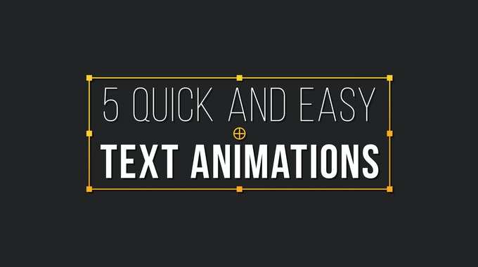 How To Create 5 Awesome Text Animations In After Effects