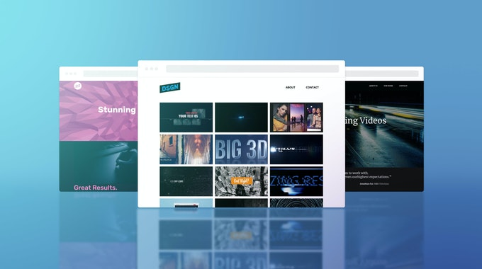 How To Create A Video Portfolio Website In 5 Minutes